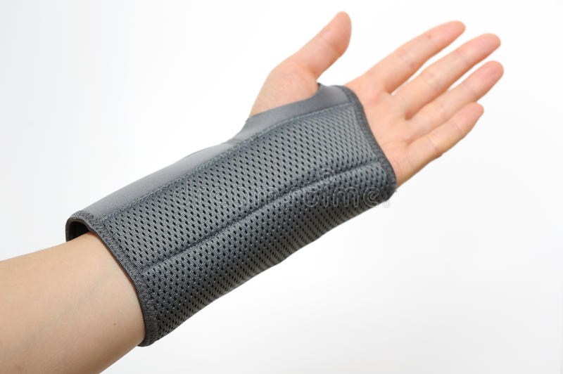 Wrist stabilizer. Shoot in studio royalty free stock photos
