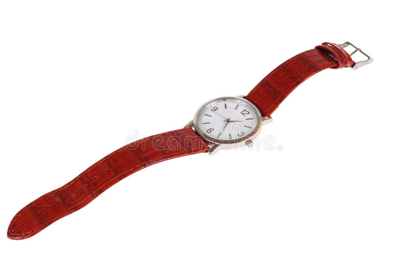 Wrist watch. A wrist watch isolated on white background stock image