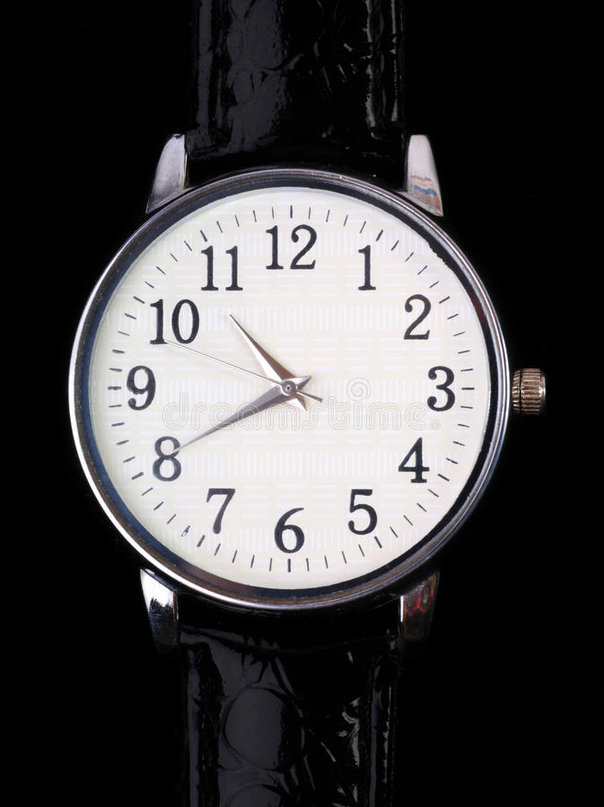Download Wrist-watch_ stock photo. Image of single, time, black - 11050884