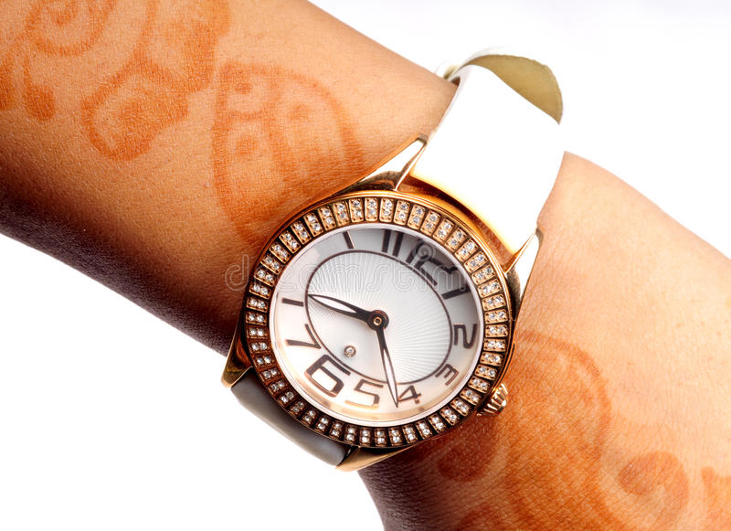 Wrist watch. Branded wrist watch with diamonds on it stock photography
