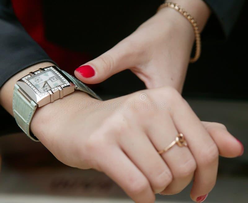 Download Wrist-watch stock image. Image of bracelet, vogue, ring - 119591