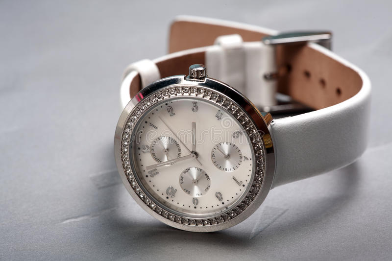 Wrist watch. Closeup shot of branded wrist watch royalty free stock images