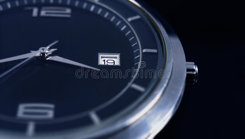Wrist watch. Detail of a wrist watch royalty free stock photo