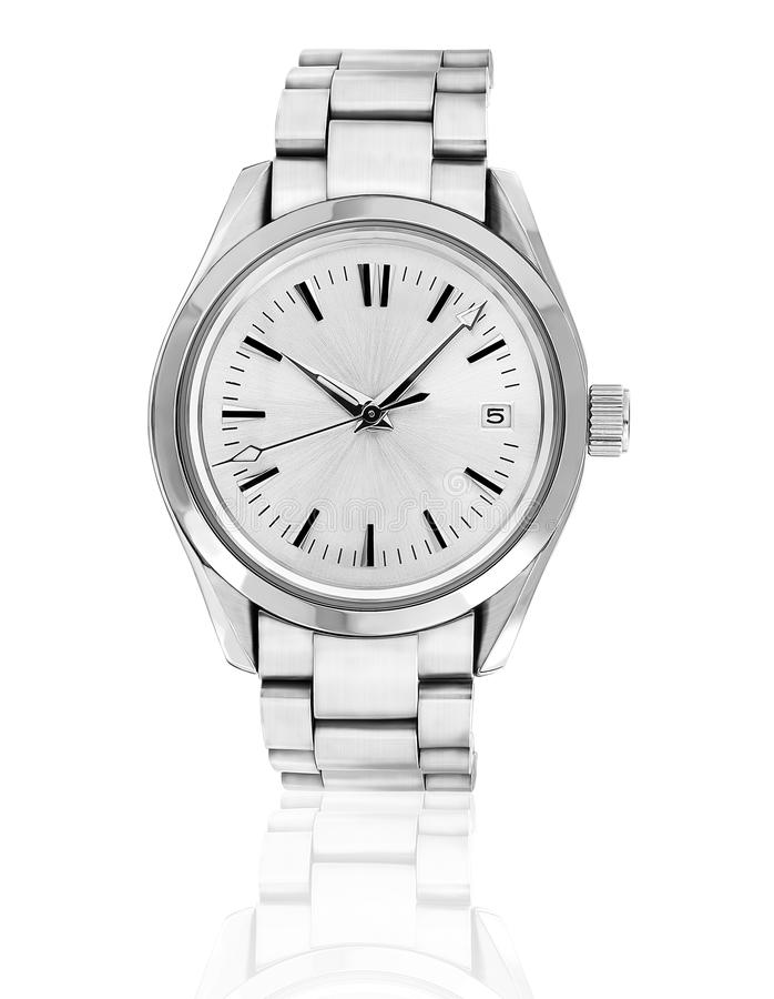 Wrist watch. Wrist watch on white background stock photos