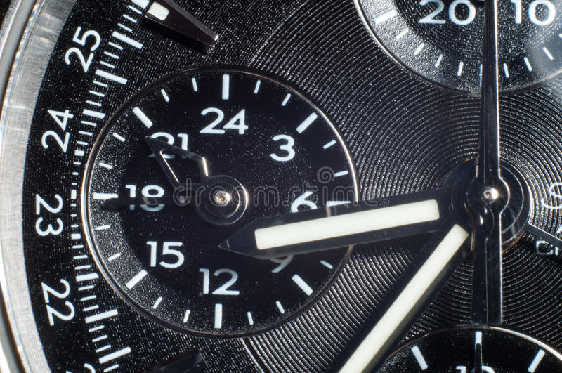Wrist Watch dial plate royalty free stock image