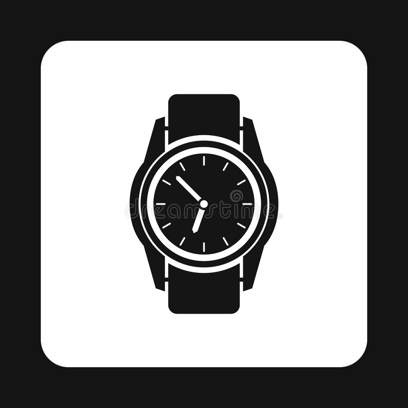 Wrist watch icon, simple style. Wrist watch icon in simple style isolated on white background. Time symbol stock illustration