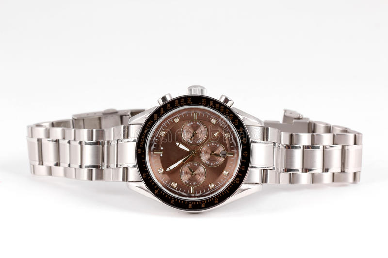 Download Wrist watch isolated stock image. Image of deadline, continuity - 14464541