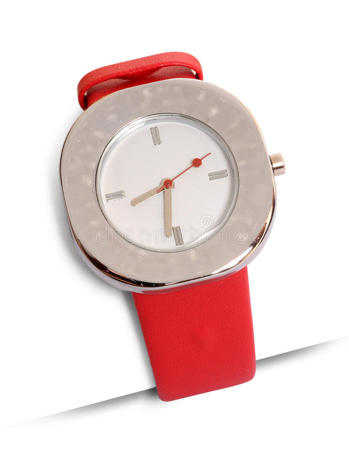 Wrist watch. On isolated background royalty free stock photography