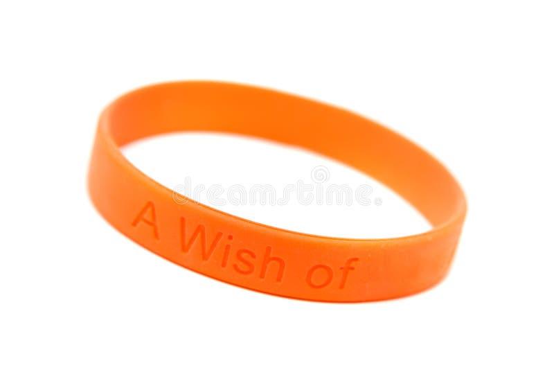 wristband de silicones photographie stock libre de droits