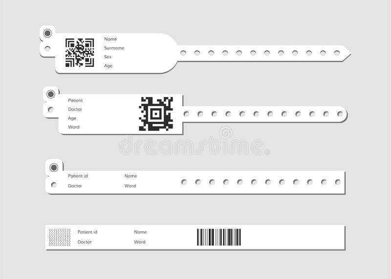 Wristband template set vector illustration