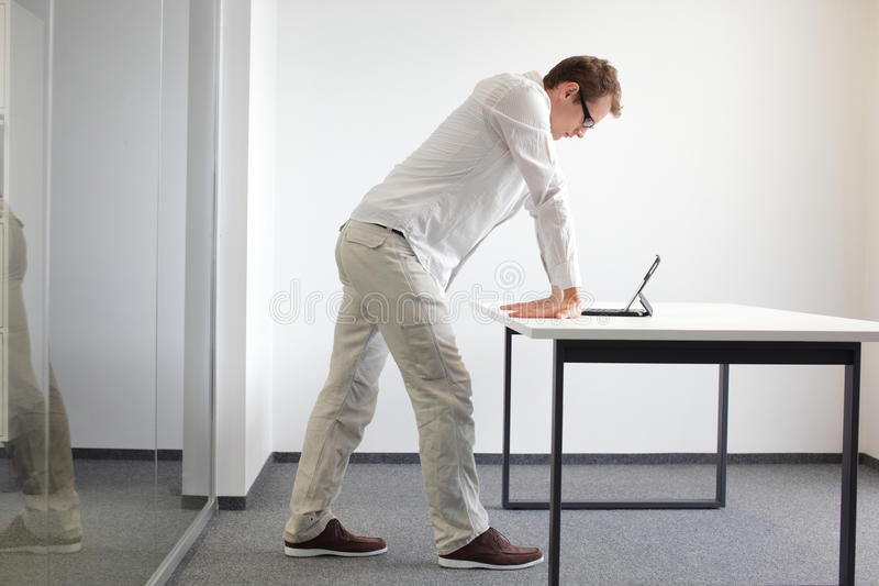 Wrists Exercise Durring Office Work Stock Image