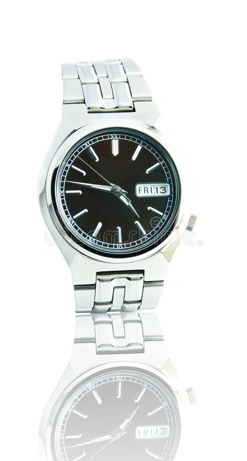 Wristwatch. On a white background royalty free stock photos