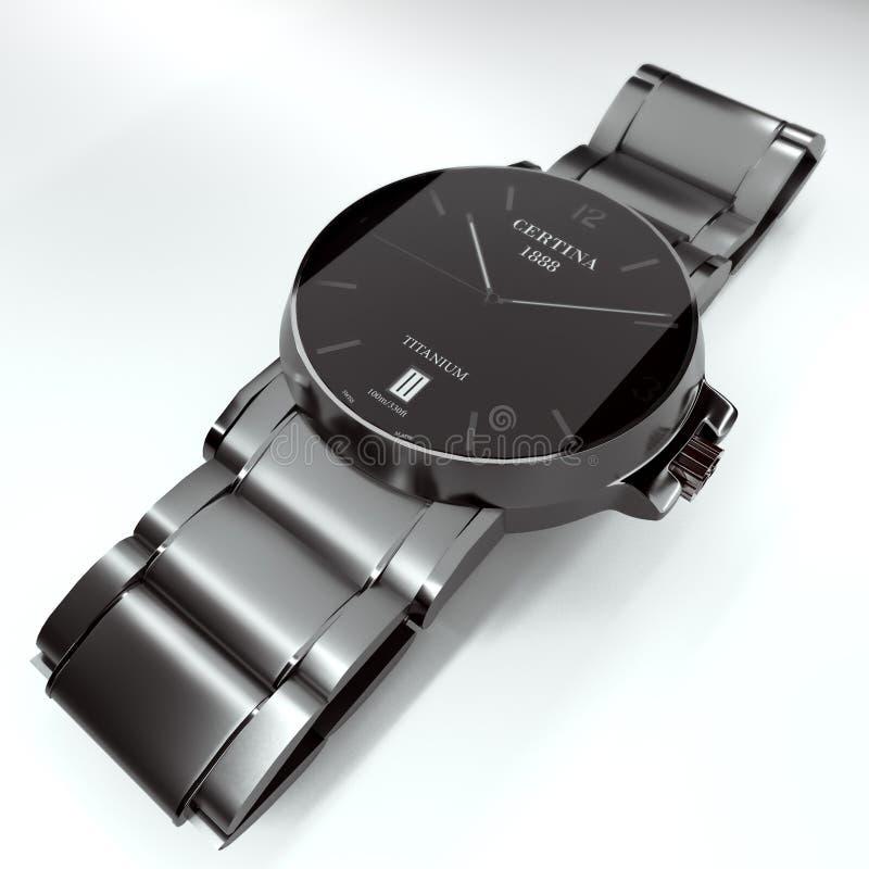 Wristwatch certina ds vector illustration
