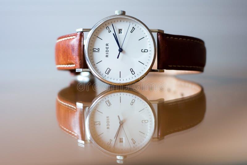 Wristwatch On Glass Tabletop Free Public Domain Cc0 Image