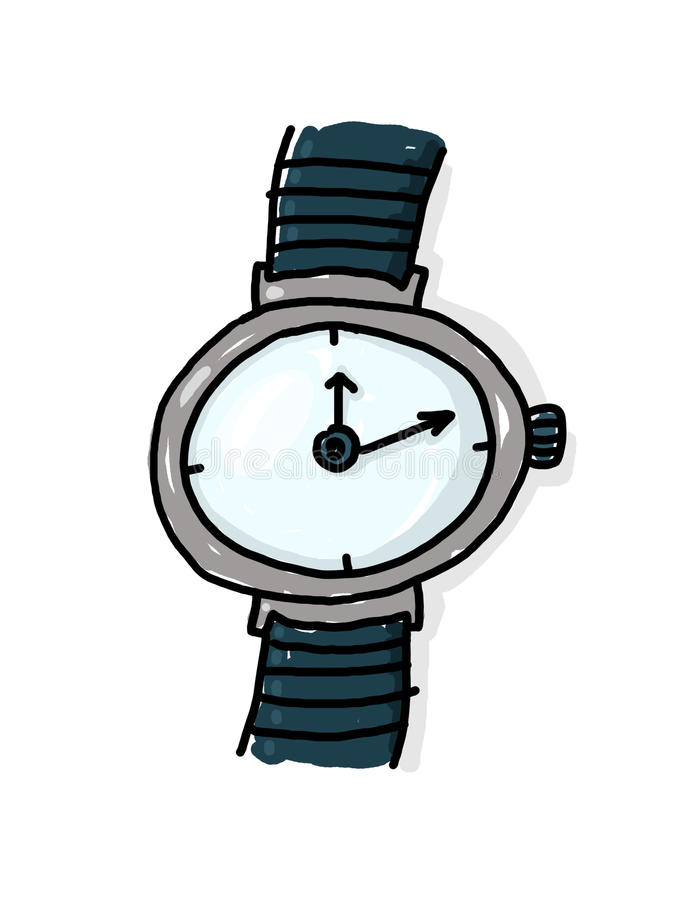 Download Wristwatch illustration stock illustration. Illustration of freehand - 12231280
