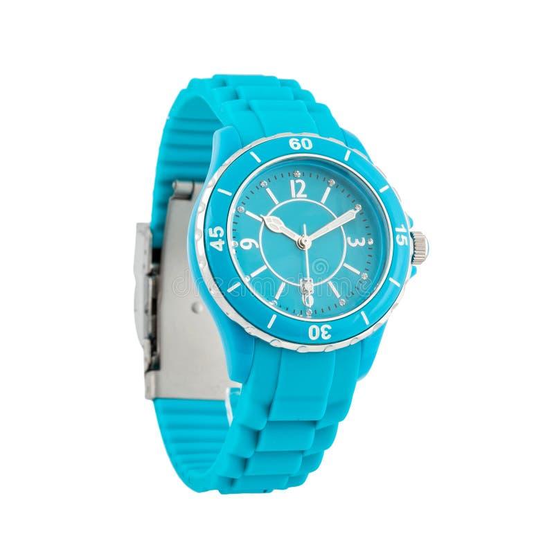 Wristwatch odizolowywający na biel fotografia stock