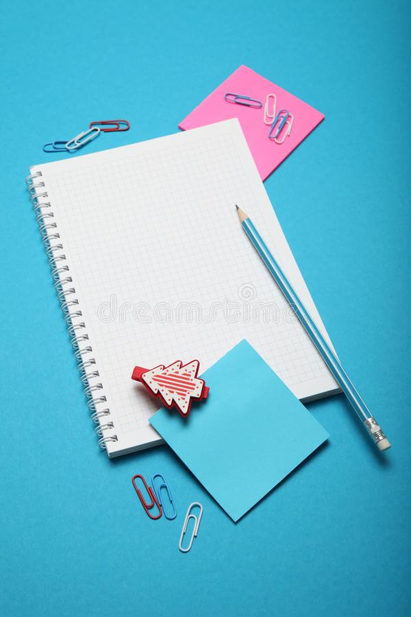 Write christmas letter for Santa Claus. Person wish list.  royalty free stock photos