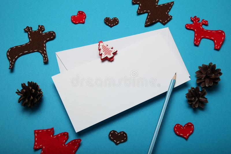 Write christmas letter for Santa Claus. Person wish list.  royalty free stock images