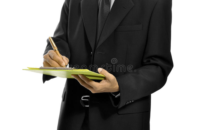Download Write On The Clipboard stock photo. Image of business - 26593848