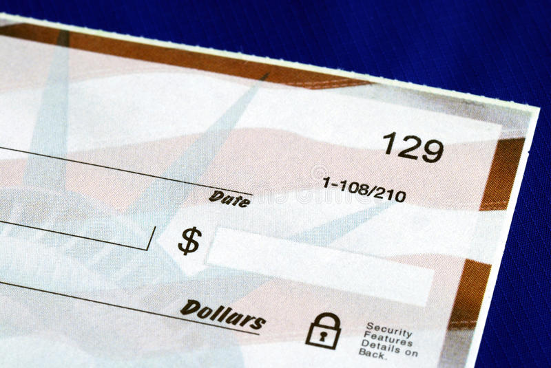 Download Write The Dollar Amount On The Check Stock Image - Image: 12509213