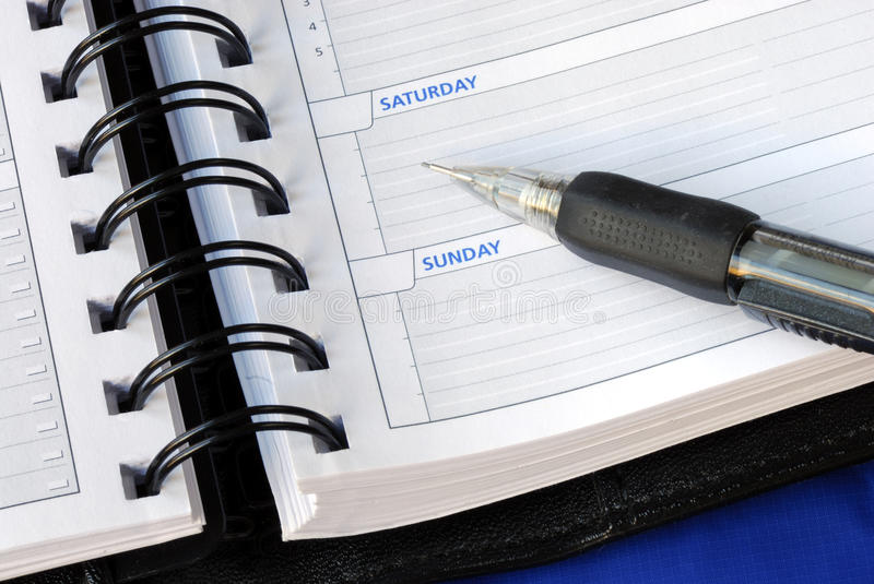 Download Write Down The Notes For The Weekend Stock Image - Image: 12408905