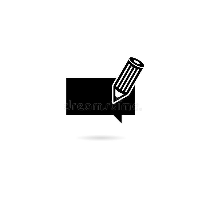 Write feedback icon on white background vector illustration