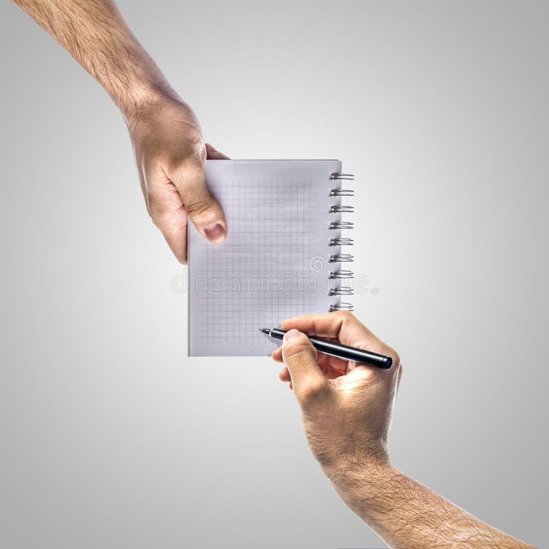 Write Here Stock Image