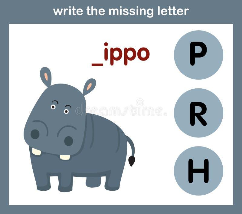 Write the missing letter stock illustration