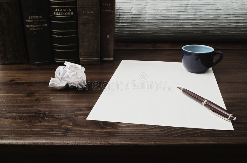 Write or not to write? royalty free stock image
