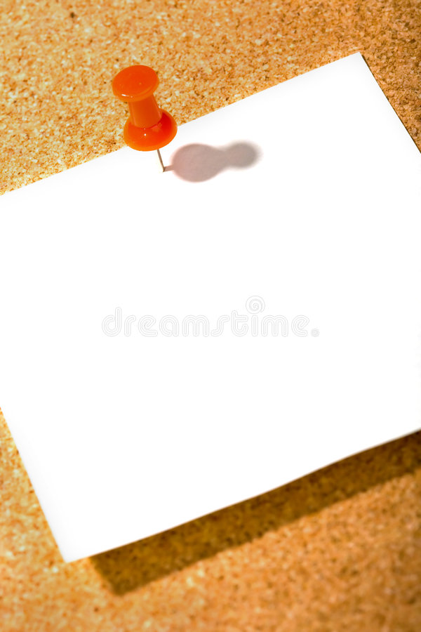 Write note on it!. Post it on the cork background royalty free stock photography