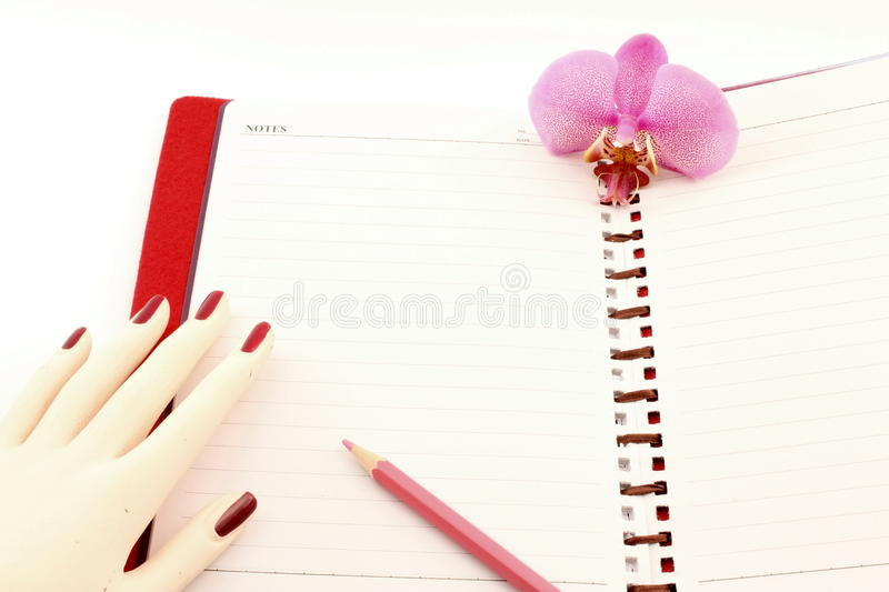Download Write on the notes. stock image. Image of pencil, love - 23777479
