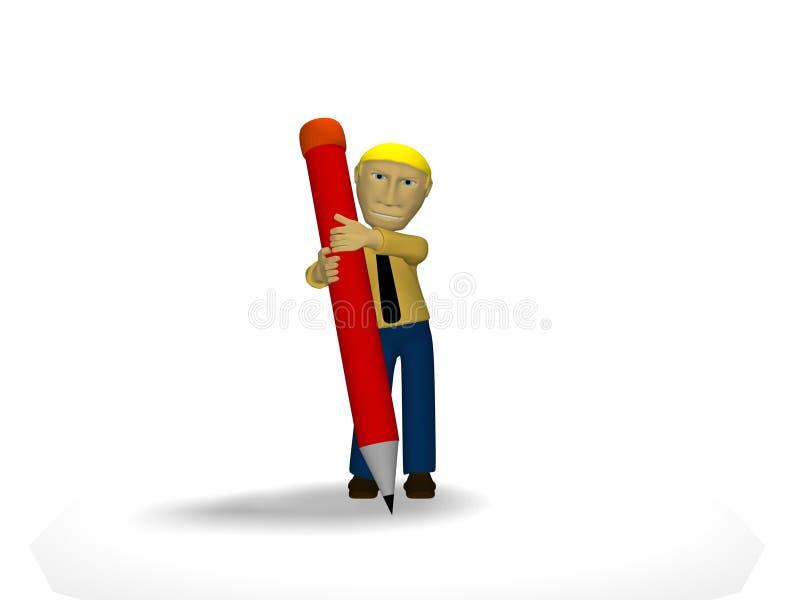 Download Write something stock illustration. Image of pose, writing - 12481114