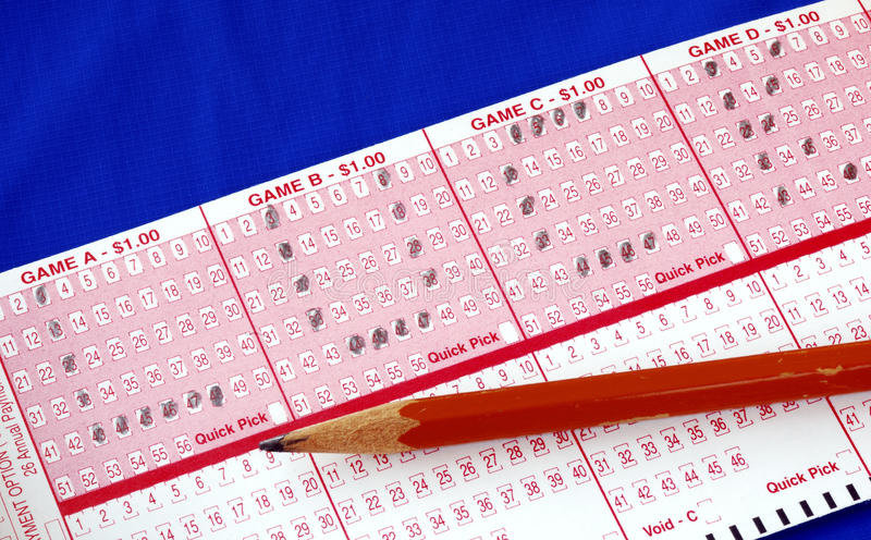 """Download Write The Word """"Luck"""" On The Lottery Ticket Stock Photo - Image: 12329366"""