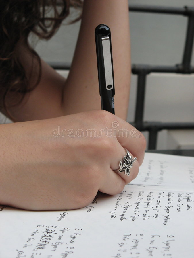 The writer royalty free stock photo