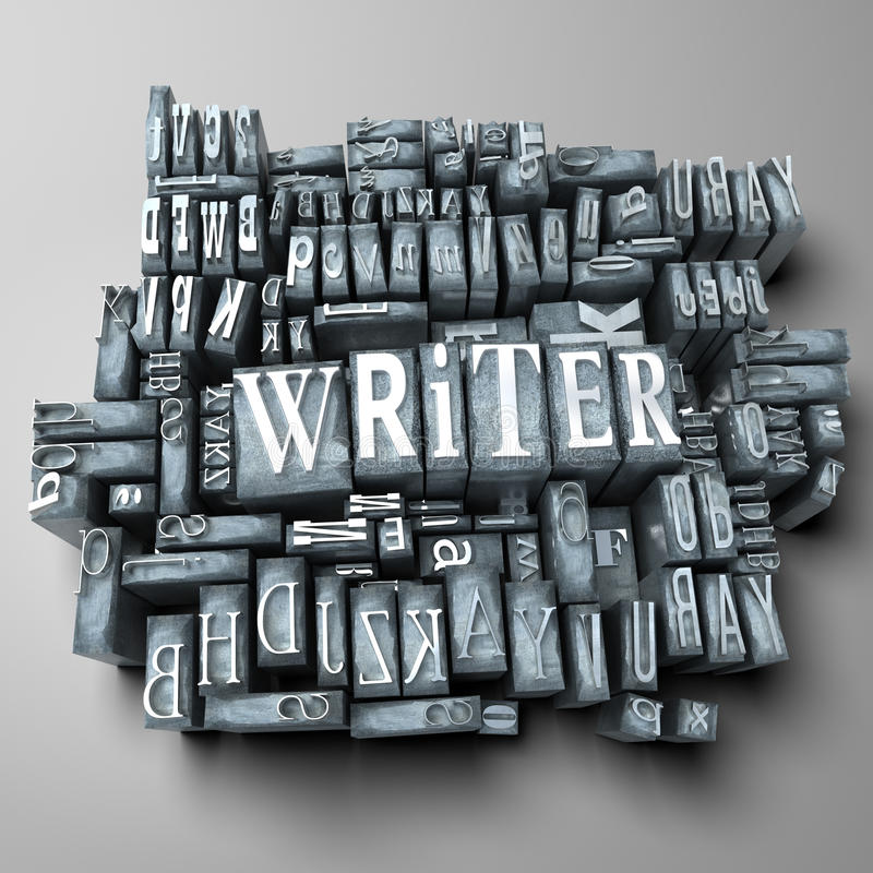 Writer. The word writer in print letter cases