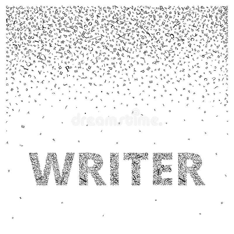 Writer Abstract Letters Create A Background And A Word Stock