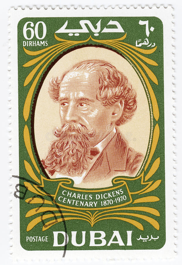 Writer Charles Dickens stock photography