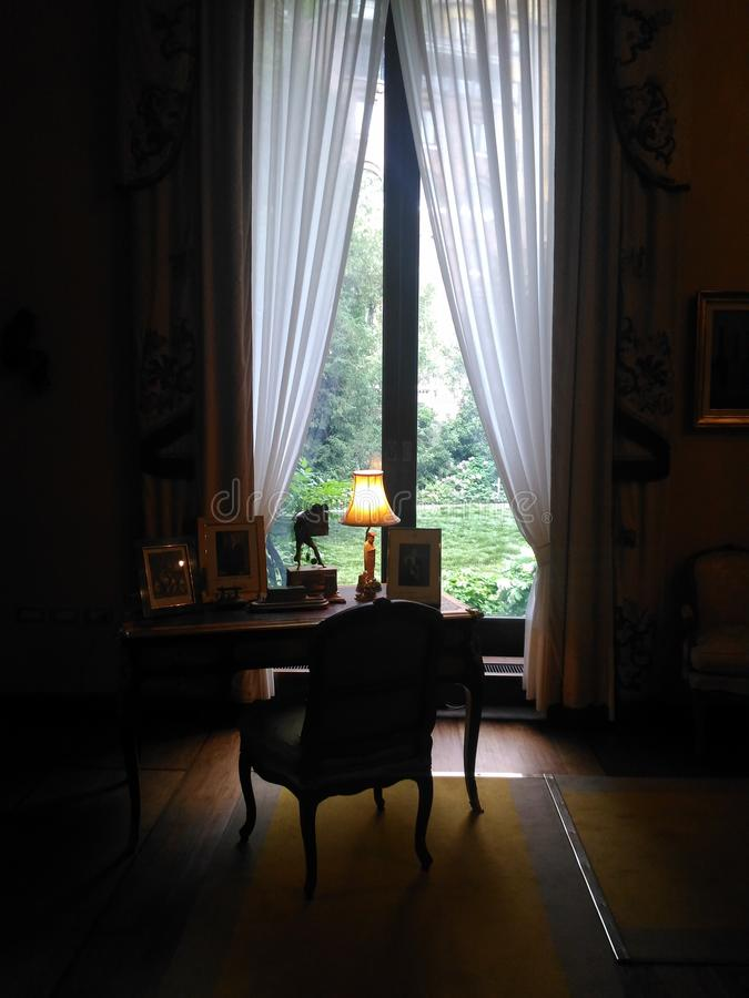 Writer& x27; dormitorio de s imagenes de archivo