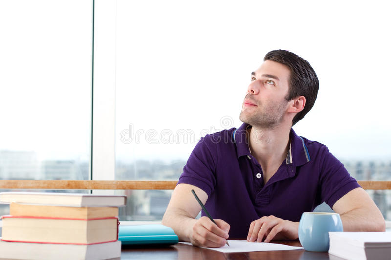 Download Writer Looking For Inspiration Stock Image - Image: 21489203