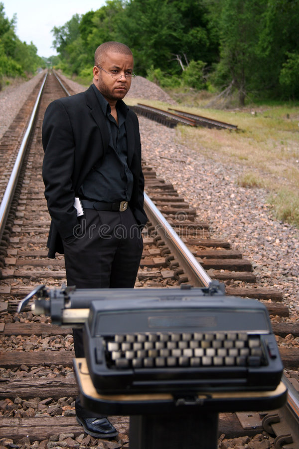 Free Writer On The Tracks Stock Images - 781004