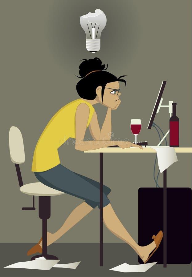 Writer's block vector illustration