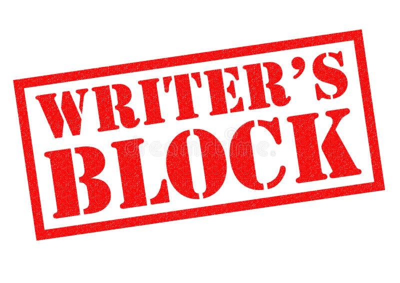 WRITER`S BLOCK stock illustration