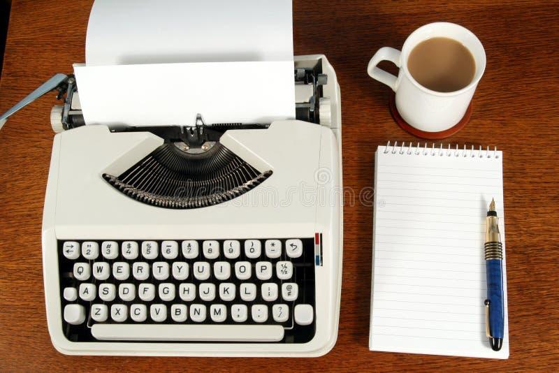 A writer's desk. stock photo