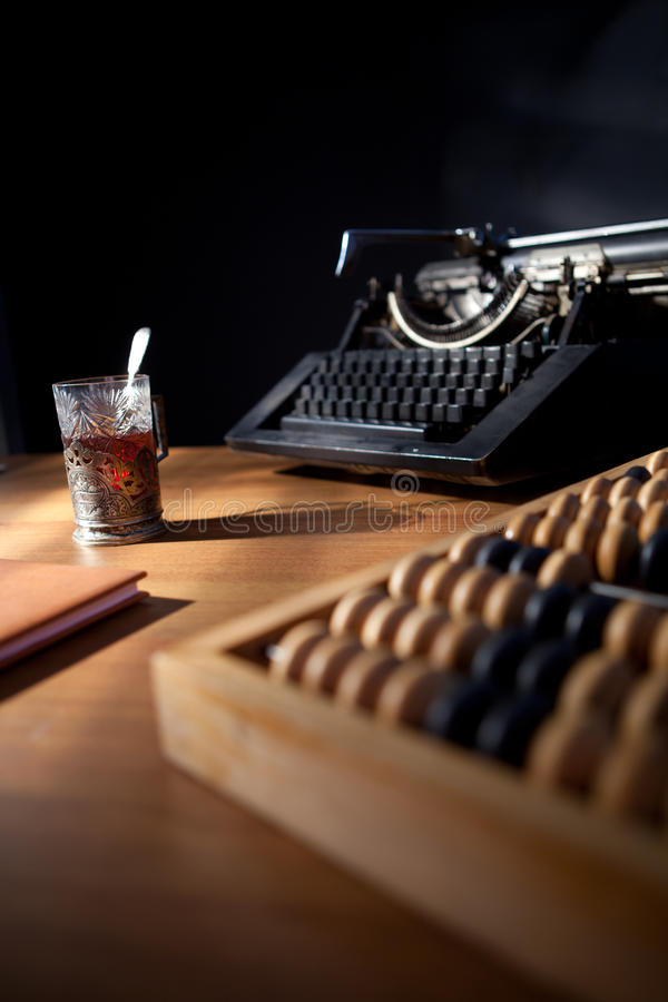 Download A Writer'S Desk. stock image. Image of wood, author, spiral - 18262175