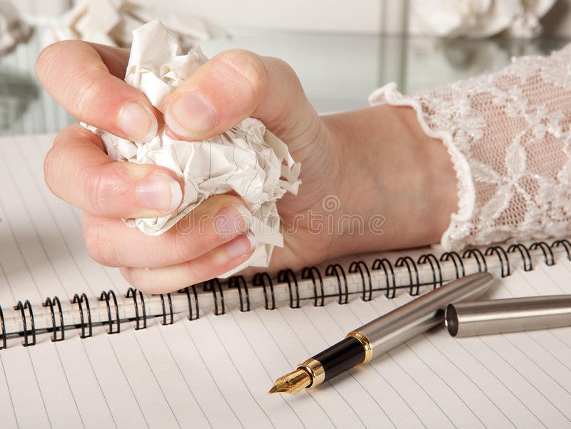Writer's frustration royalty free stock photo