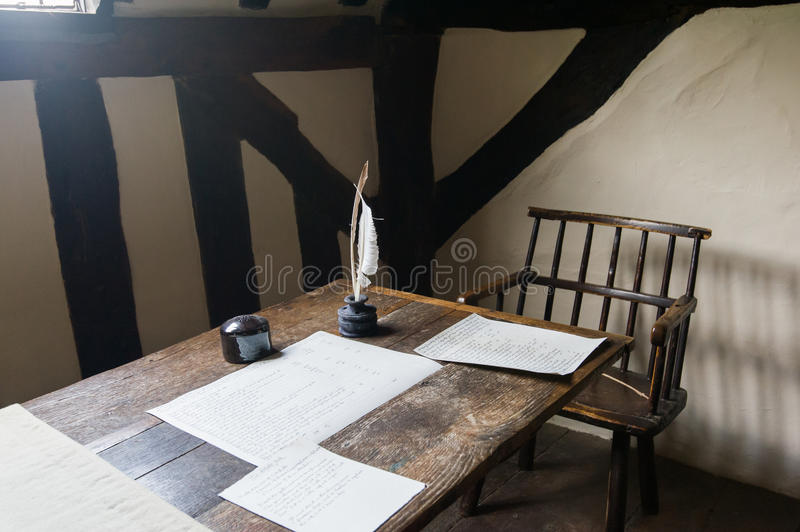 Writer work place royalty free stock photography