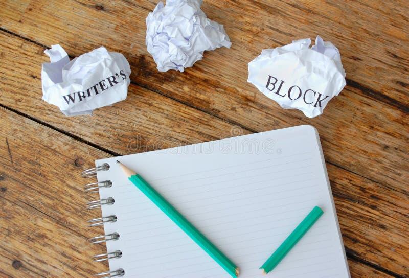 Writers block stock image