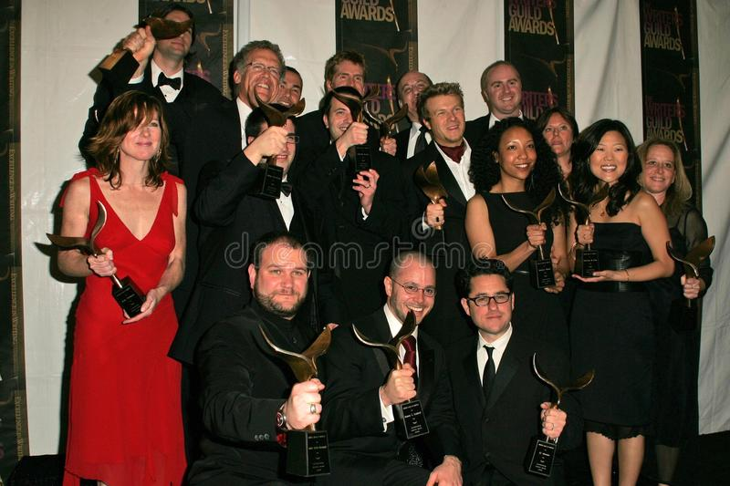 Writers of the series Lost. In the press room at the 2006 Writers Guild Awards. Hollywood Palladium, Hollywood, CA. 02-04-06 stock images