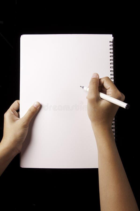 writing obraz stock