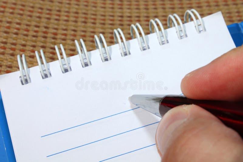 writing royaltyfria bilder